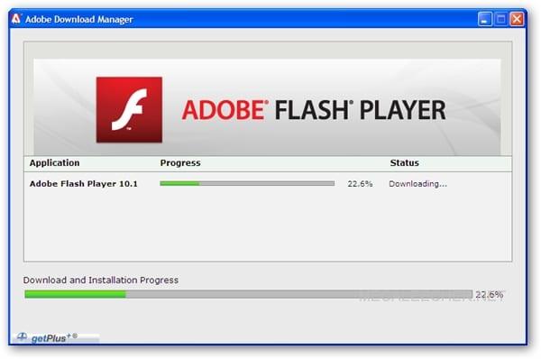 Adobe flash player not loading
