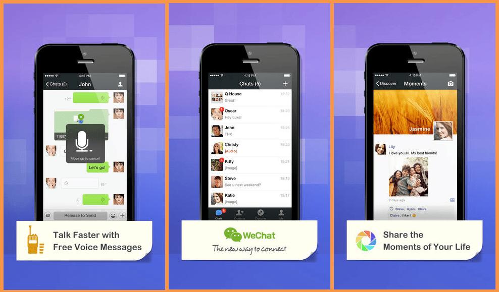 تطبيق وي شات للايفون WeChat for iPhone
