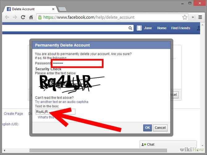 حذف اسمي من الفيس بوك