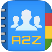 A2Z Contacts - Contact Manager, Send Group Messages & Group Emails, Create, Edit, & Delete Contacts, Manage iCloud, Gmail, Yahoo, Outlook, & Exchange Address Books
