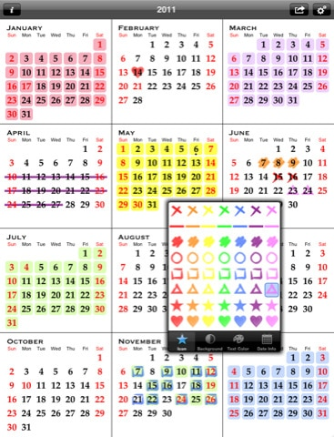 All-in-One Year Calendar