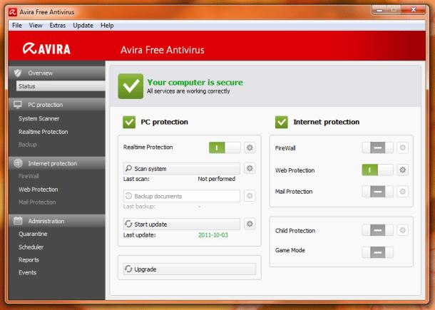 عملاق الحماية الالمانى الشهير افيرا Avira Free Antivirus 15.0.11.579 بنسختيه Avira-2012-shot