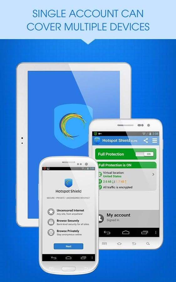 تنزيل برنامج هوت سبوت شيلد للاندرويد Hotspot Shield VPN for Android