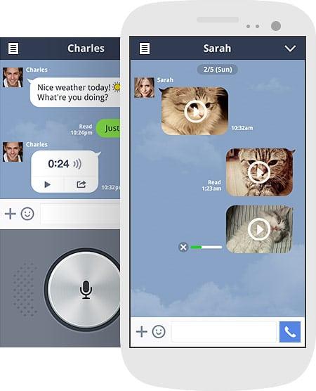 تطبيق لاين يمكنك ان ترسل الصور والفيديو والرسائل الصوتية والنصية والاتصالات مع الاصدقاء بشكل سريع وسهل