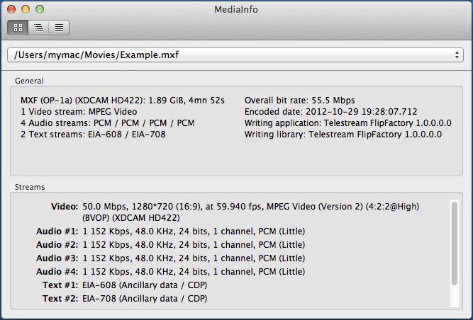 MediaInfo for Mac لمعرفة معلومات عن الفيديو والصوت في جهازك