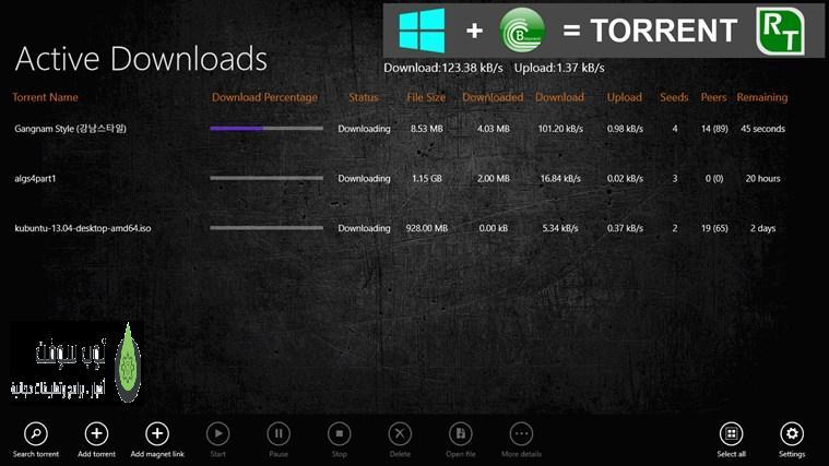 Torrent RT for Windows 8