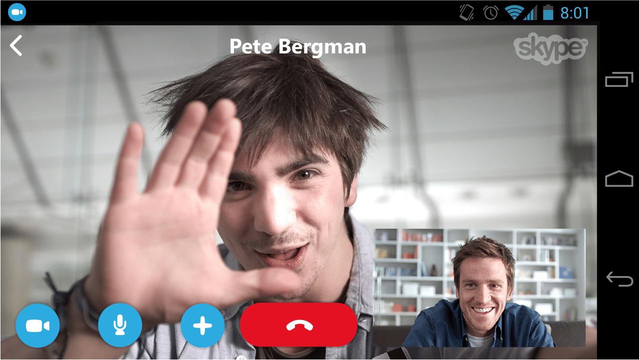 تطبيق سكايب الجودة اثناء تصوير الفيديو واجراء المكالمات الهاتفية ايضاً