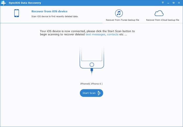 SynciOS Data Recovery برنامج استعادة الملفات المحذوفة للايفون والايباد