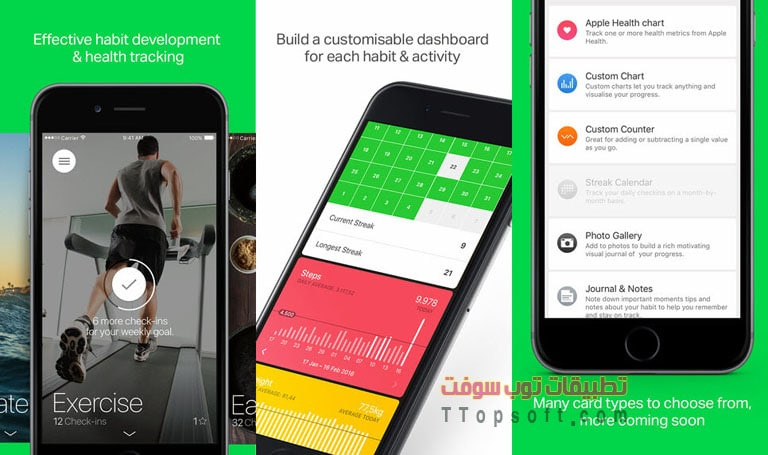 Today: Habit tracker for your daily goals and routine with custom health & fitness dashboards