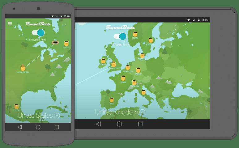 برنامج TunnelBear VPN على اندرويد لحماية الخصوصية وفتح المواقع المحجوبة للاندرويد
