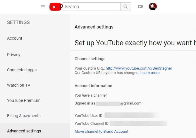YouTube-Custom-Channel-URL