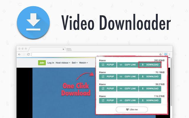 اضافة ايقونة تحميل في يوتيوب One-Click Video Downloader