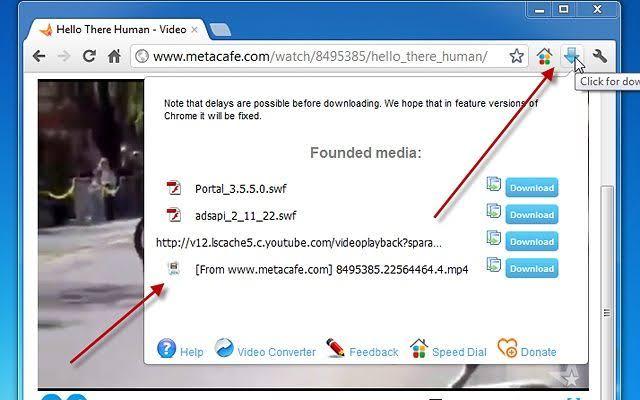اضافة تحميل اي فيديو من النت Flash Video Downloader