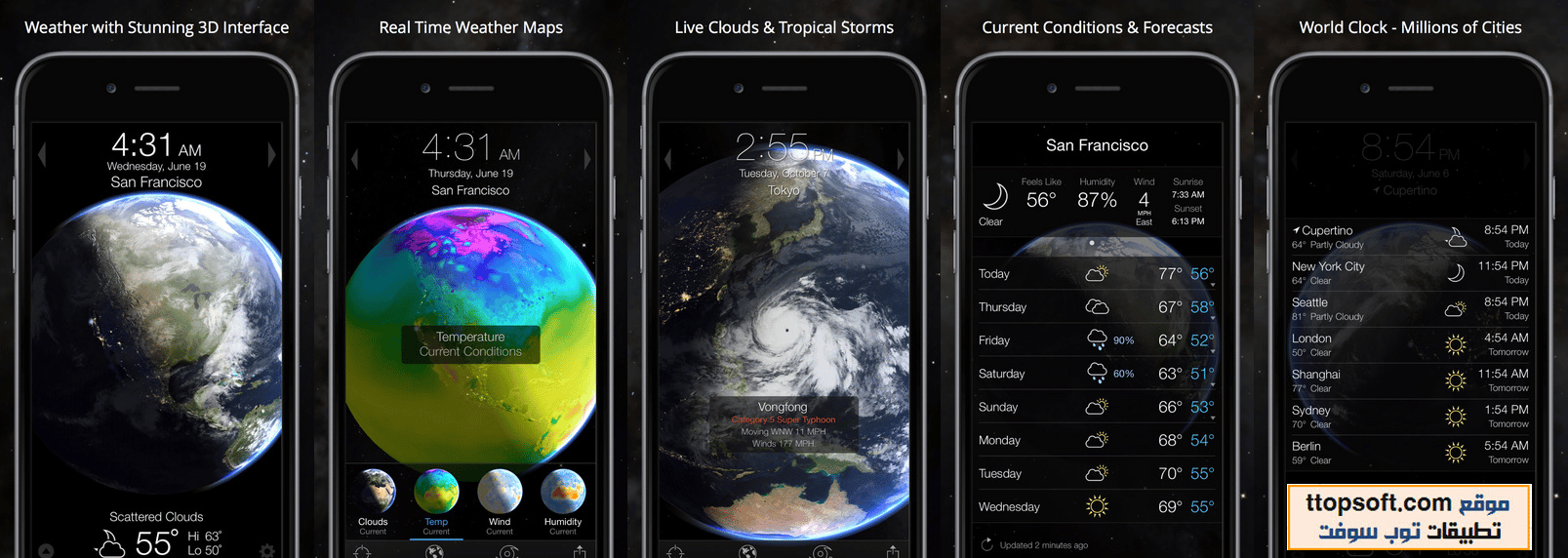 Living Earth - Clock & Weather By Radiantlabs