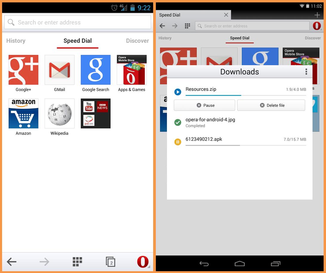 تطبيق اوبرا موبايل متصفح انترنت للاندرويد
