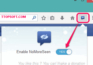 turn-on-NoMoreSeen-button